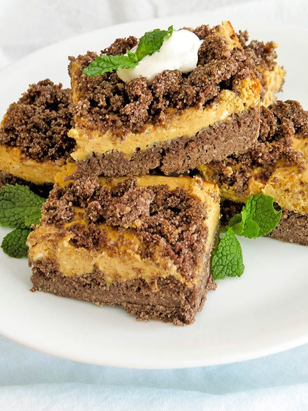 Gingerbread Pumpkin Cheesecake Bars Recipe Keto