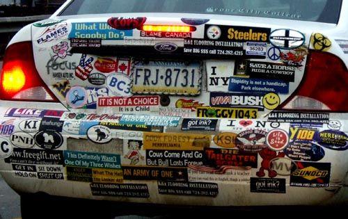bumper sticker commitment!
