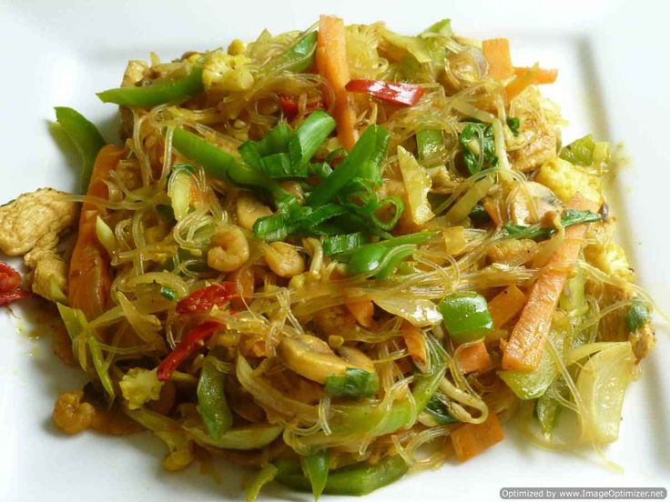 Singapore style curried noodles