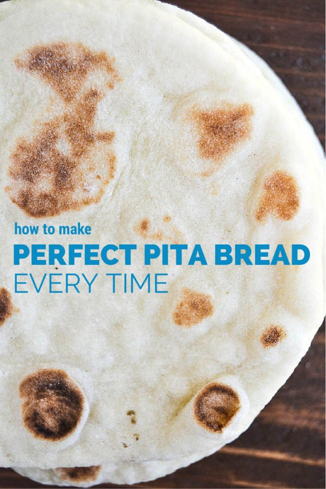 All natural easy homemade pita bread