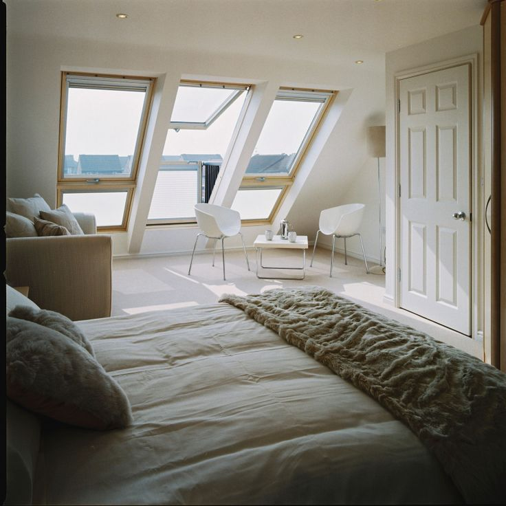 VELUX CABRIO balcony windows will wake you up gently with the morning sun *Cue Disney music and bluebirds fluttering by.