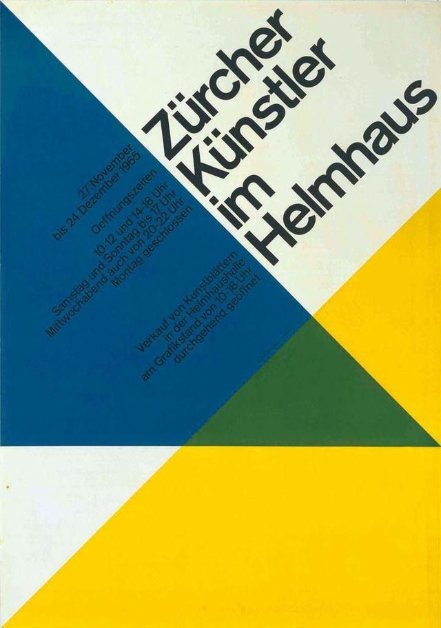 ハンス・ノイブルク「《「チューリヒの作家たち展」ポスター」1965、宇都宮美術館蔵