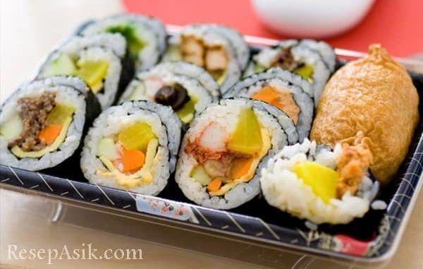Cara Membuat Sushi 1 Min Resep Sushi Resep Resep Masakan Jepang
