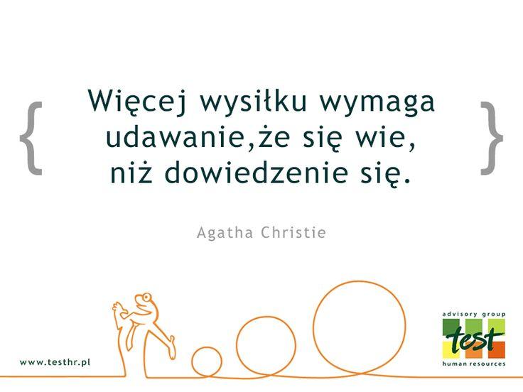 Lekcja na dziś!  #cytaty #AgathaChristie