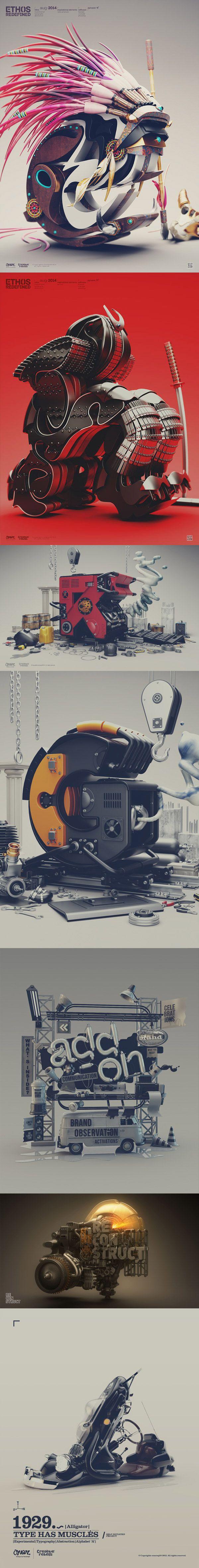 """""""Ethos-Redefined"""" 3D artwork by Ormar Aqil."""