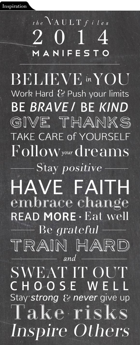 Inspiration File: Words to live by - LOVE this