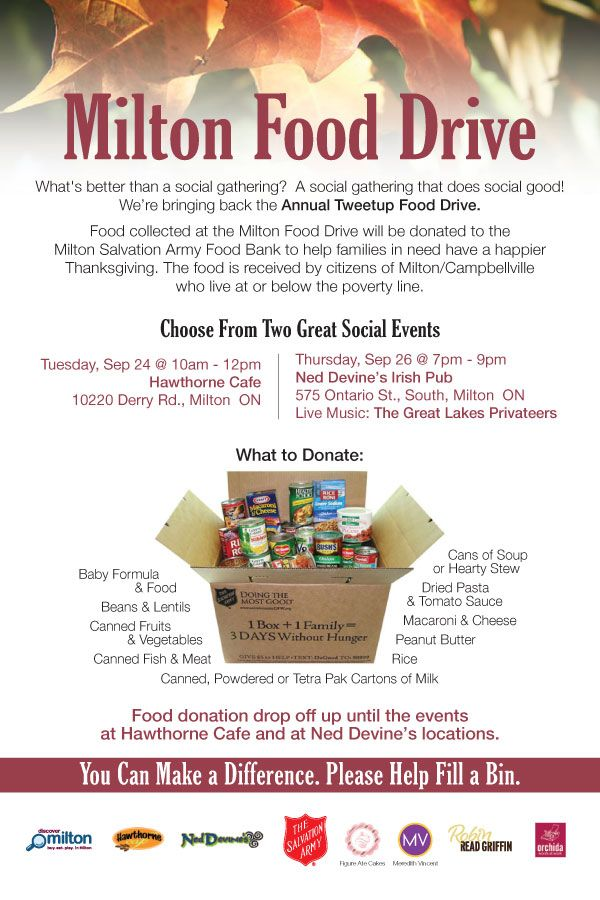milton thanksgiving food drive
