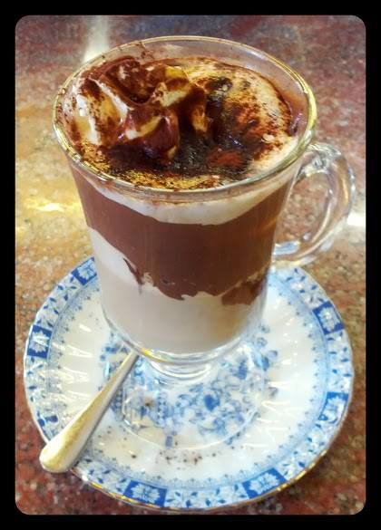 Marocchino- classic nutella and espresso drink of Turin