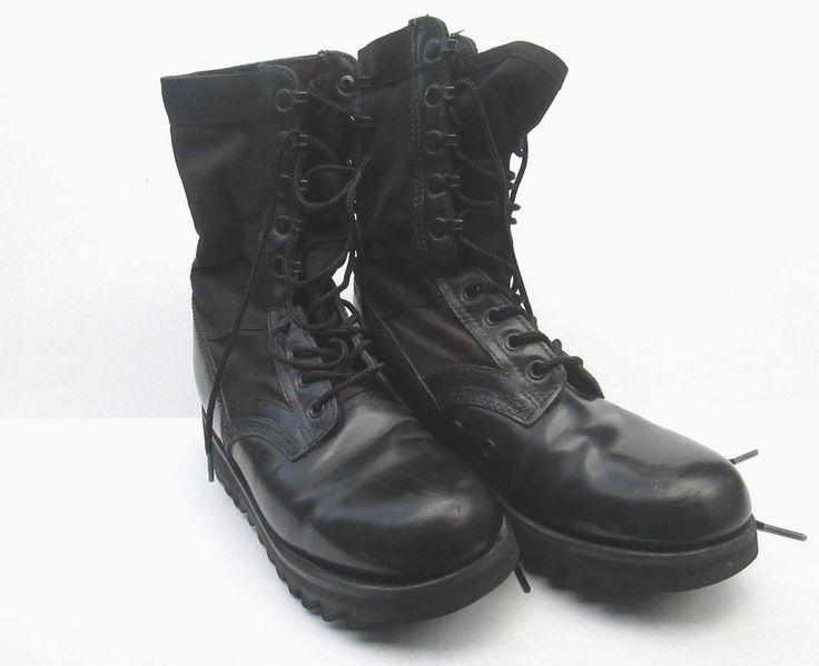 Goth Altama Leather Jungle Boot Ripple Sole Boots Army Black 6877 Mens SIZE 6 R #Altama #Jungle