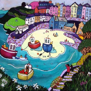 Helen Elliott - Tenby Beach & Town
