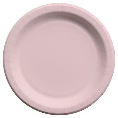 40ct Cheeky Light Pink Dinner Plate