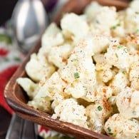 Cauliflower Potato Salad {Low Carb, Keto Friendly, Vegetarian} — Buns In My Oven