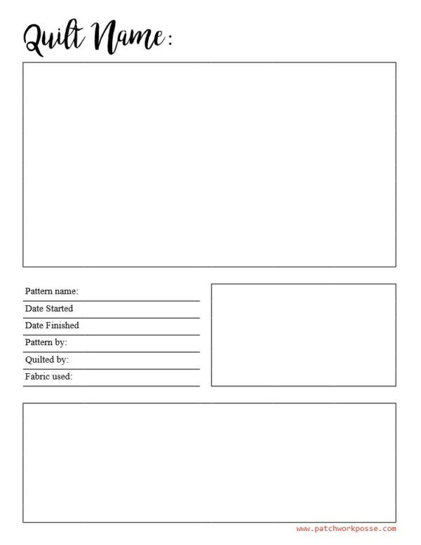 If You D Like To Try Download My Blank Quilt Journal Pages Pdf And See If You Like Them Fill Them Out According To Quilt Planner Quilt Labels Quilting Tips