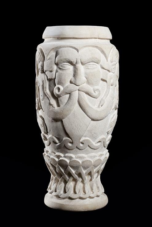 Limestone Vase  Sculptor: Cheryl Latimer: Vase Sculptor, Limestone Vase