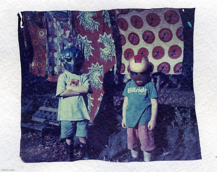 The Good the Bad and the Laundry by Bunny Safari, polaroid transfer onto watercolour paper.