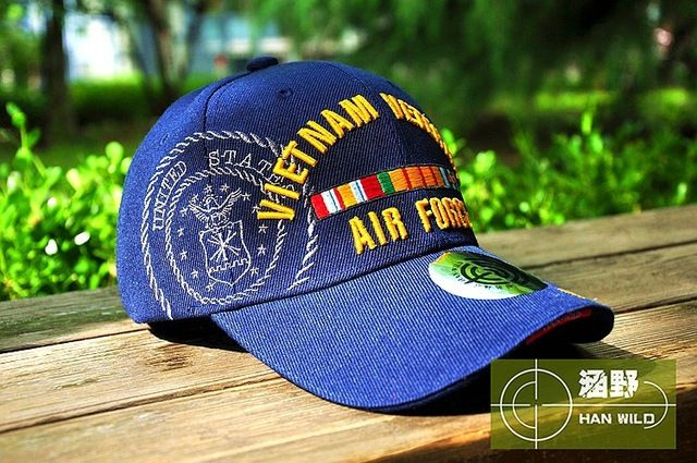 HAN WILD WW2 Vietnam Vintage Cotton Gorras Memorable Air Force Cap Snapback Letter Tactical Baseball Cap US Army Hats Check it out! Visit us