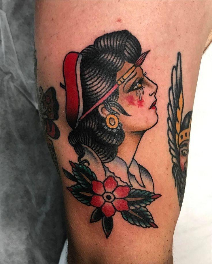 Crying Lady by @jon_ftw at @tradition_tattoo_brisbane in Brisbane Australia. #cry #lady #cryinglady #paintbrush #traditionaltattoobrisbane #tradition_tattoo_brisbane #brisbane #australia #tattoo #tattoos #tattoosnob