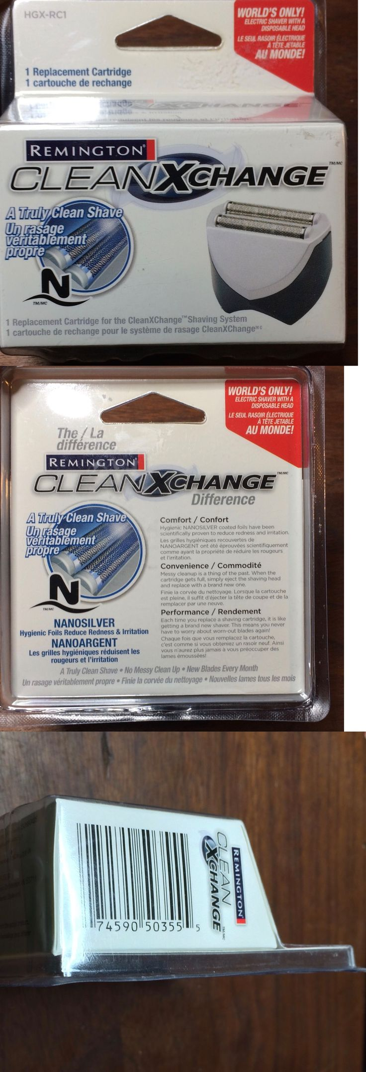 Shaver Parts and Accessories: Remington Clean Xchange Hgx-Rc1 Lot Of 3 Replacement Head Cartridges New Sealed -> BUY IT NOW ONLY: $36 on eBay!
