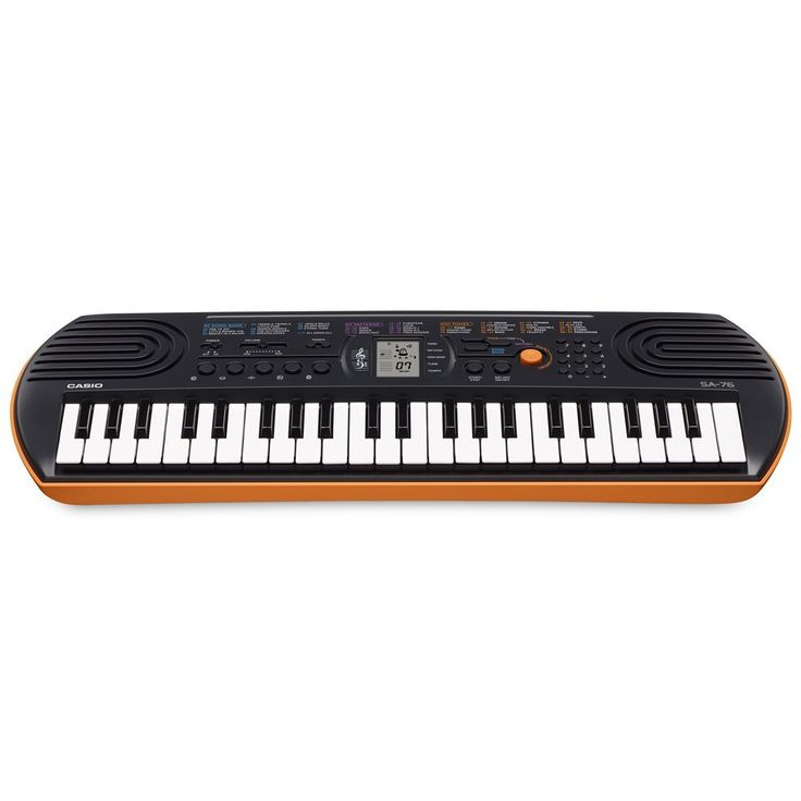 Amazon.com: Casio SA-76 44 Key Mini Keyboard, Orange: Musical Instruments