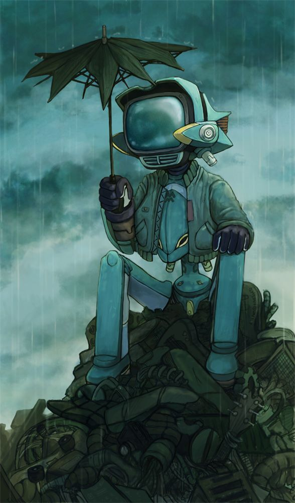 Lonely Robot - revisited by chewibunny (FLCL)