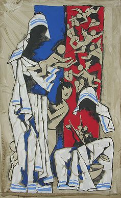 Maqbool Fida Husain - Mother @ Serigraphs III: M F Husain   StoryLTD I #Indianart #MFHusain #Modern art