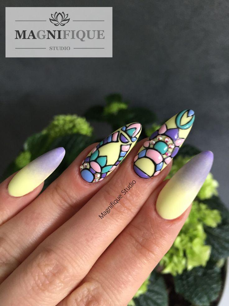 #nailart #nageldesign bunte Nägel, 3d naildesign, nails, lange Nägel, paznokcie kolorowe. Beauty nails , Nail Art
