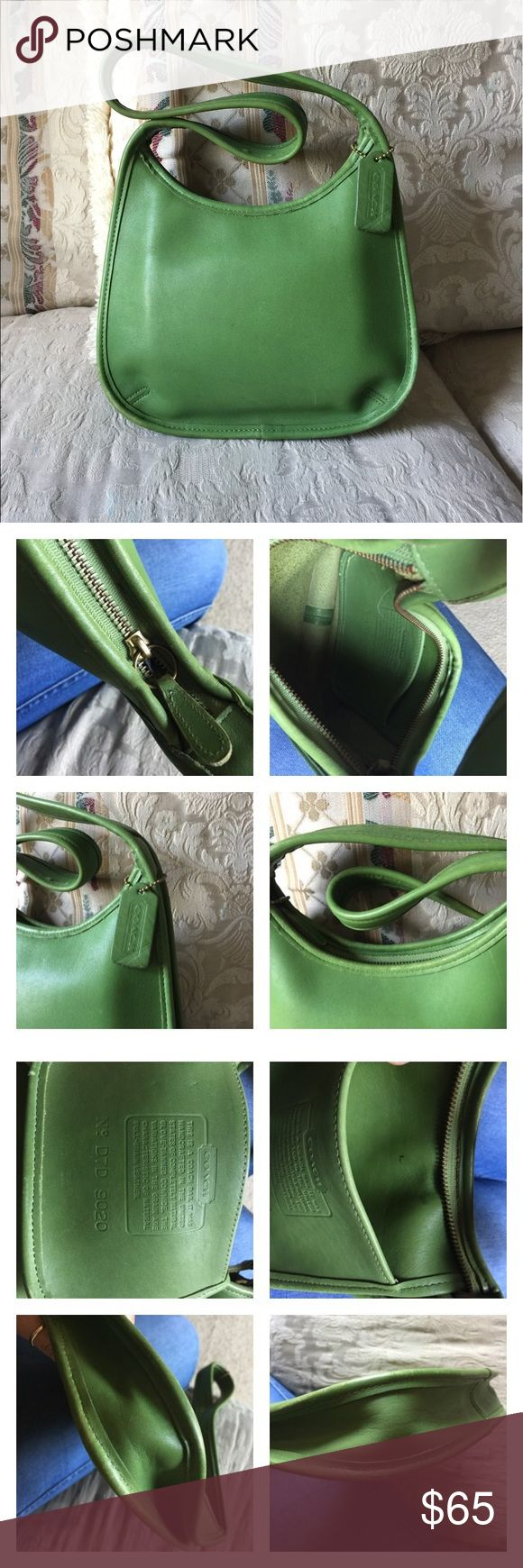 Vintage Coach hobo 9020 Vintage Coach hobo bag in Very good Vintage condition, minor scuffs on corners, free of major scratches and scars.. leather is in GREAT condition, no soils clean inside and out..a few pen marks typical. AUTHENTIC pls ask all questions prior to 😊 Coach Bags Hobos