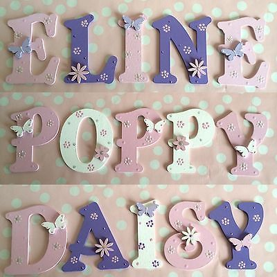 Customised Children Baby Gift Bedroom Nursery Wall Door Decor Name Wooden Plaque