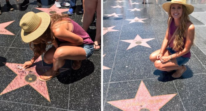 "Fox News: Young Woman Who Clean Up Trump's Hollywood Walk Star ""BLOWN AWAY"" by Online Trashing Received"