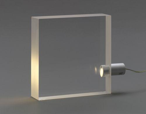 "ToFU Lamp  Tokujin Yoshioka (Japanese, born 1967)    2000. Acrylic and aluminum, 11 5/8 x 14 3/8 x 3"" (29.5 x 36.5 x 7.6 cm). Manufactured by Yamagiwa Corporation. Gift of Yamagiwa USA Corporation. © 2011 Tokujin Yoshioka"