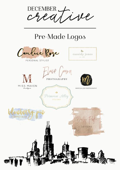 Pre-Made Logo Designs | December Creative