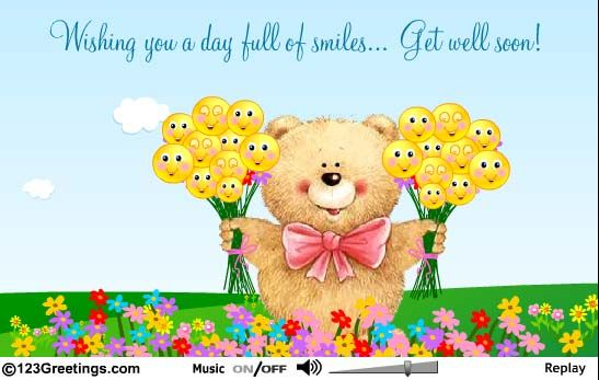 free+get+well+ecards | Get Well Teddy... Free Get Well Soon eCards, Greeting Cards | 123 ...