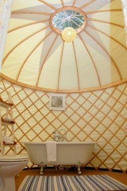 Priory Bay's yurt. Allegedly Kate Middleton had her hen do at The Priory Bay Hotel, Isle of Wight