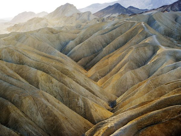 Death Valley National Park, California and Nevada. Zabriskie Point photograph by Michael Melford
