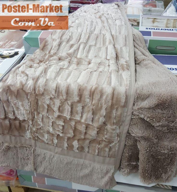 Плед-покрывало из искусственного меха бежевого цвета. Купить Плед-покрывало из искусственного меха бежевого цвета в интернет магазине Постель маркет (Киев, Украина)