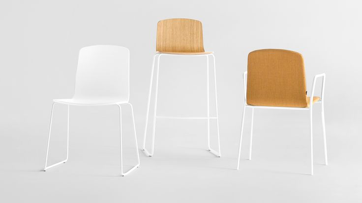 The Ann collection from Sandler Seating. Suitable for stacking.