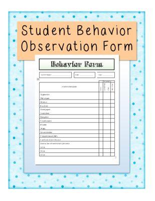 8 best Observation Form images on Pinterest School psychology - observation feedback form