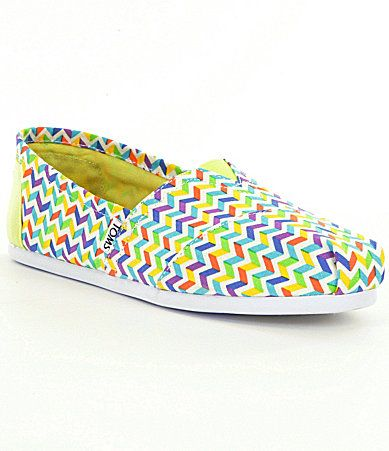 TOMS Chevron Alpargata Shoes #Dillards