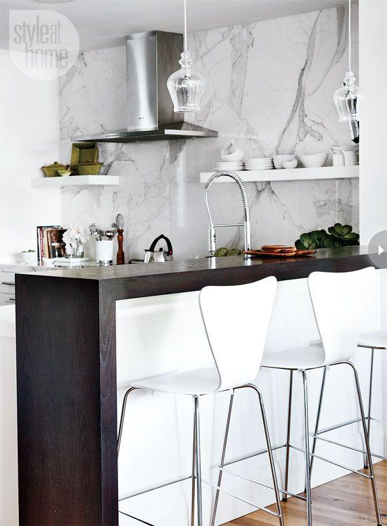 Interior Chic Modern Condo Toronto Bar And Ikea Cabinets