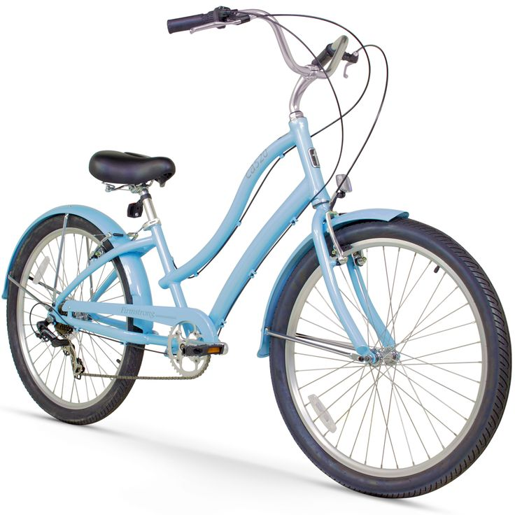 """26"""" Firmstrong Women's CA-520 Seven Speed Beach Cruiser Bicycle, Baby"""