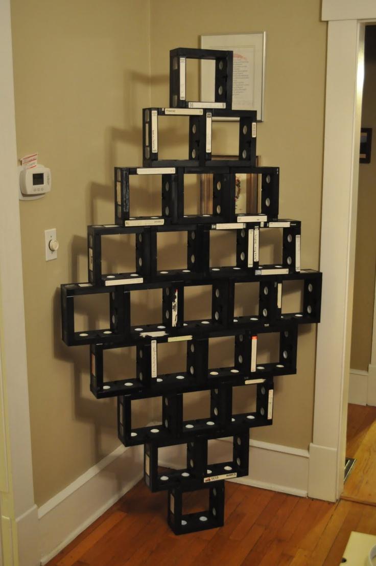 make furniture from old vhs tapes for the home pinterest furniture. Black Bedroom Furniture Sets. Home Design Ideas