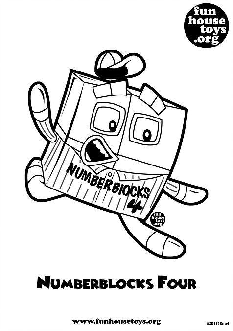 Numberblocks Four Printable Coloring Pag   Kolor