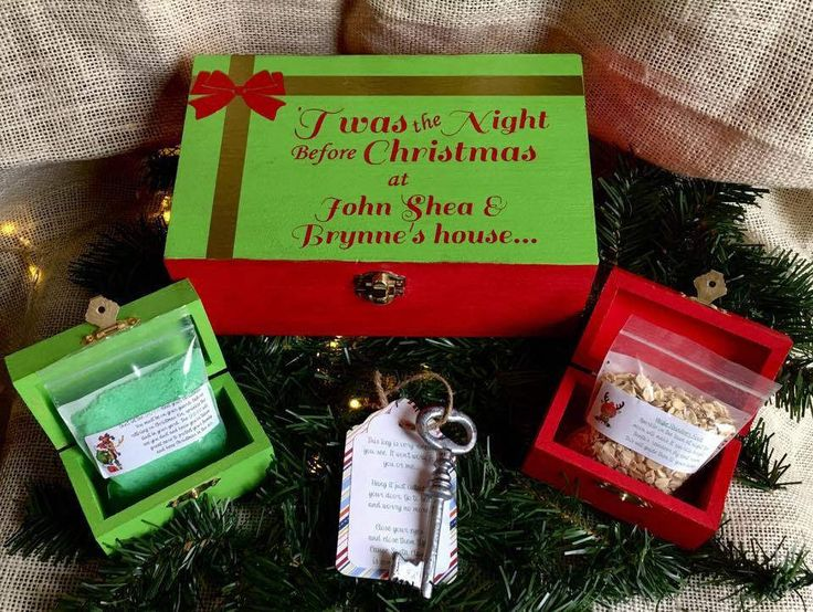 Personalized Christmas Eve Box Set, Reindeer Food, Santa's Key, Grinch Dust, Christmas, Santa Claus, Tradition, Holiday, Gift for kids by PersonalizeITStudios on Etsy