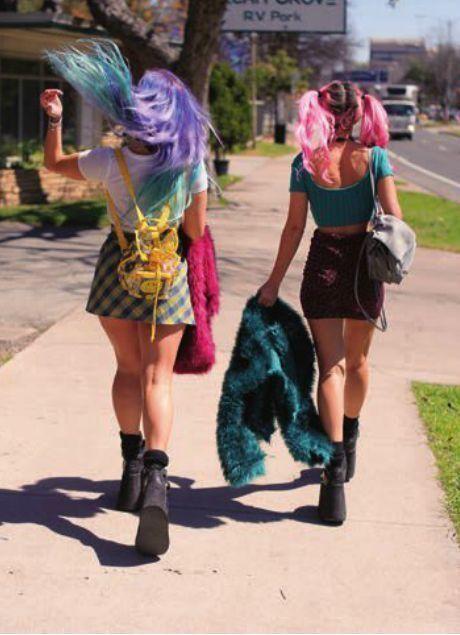 Cabelos coloridos...       colorful head..!!!!