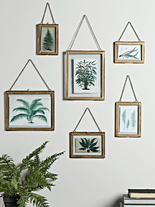 Embossed Hanging Brass Frames