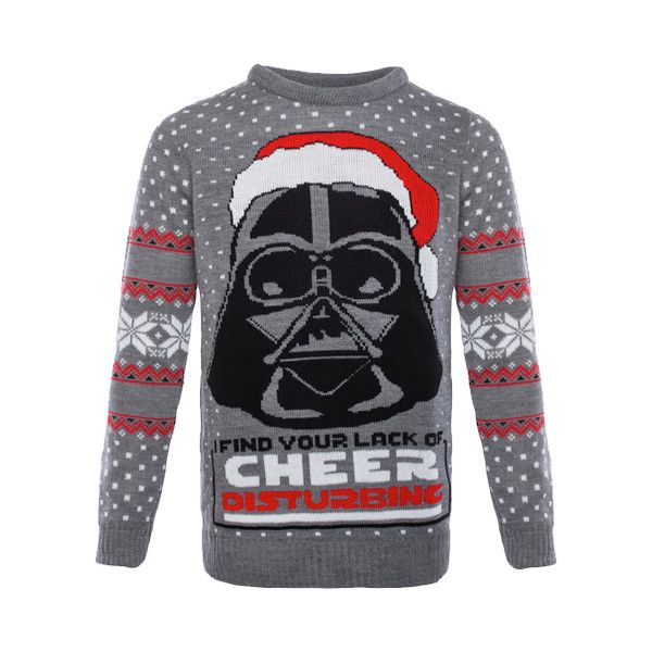 Star Wars Lack of Cheer Disturbing Unisex Knitted Christmas... ($55) ❤ liked on Polyvore featuring tops, sweaters, unisex sweaters, party jumpers, christmas jumpers, christmas sweaters and christmas party sweater
