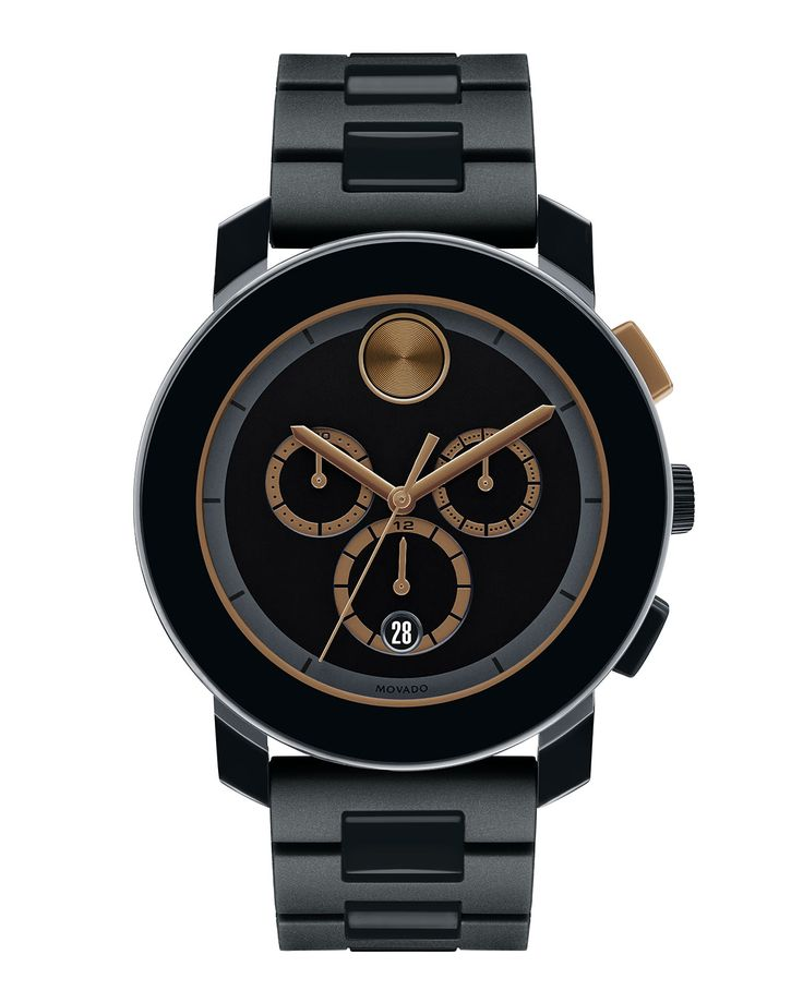 Movado   Black 43.5mm Bold Chronograph Watch for Men   Lyst