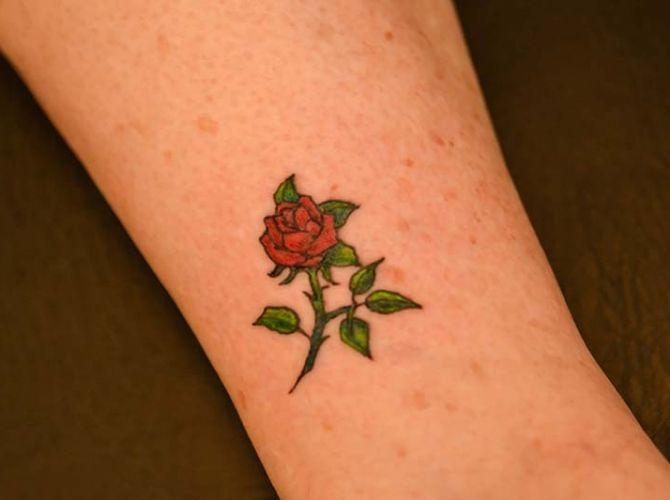 Small Rose Tattoo Illustrator Tattoo   Ruth Tattoo Ideas