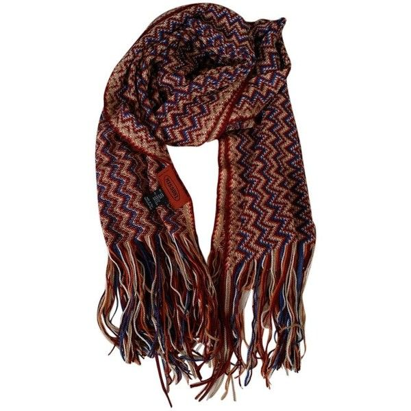 Pre-owned Missoni Scarf ($100) ❤ liked on Polyvore featuring accessories, scarves, none, wrap shawl, missoni, zig zag scarves, colorful shawl and missoni shawl