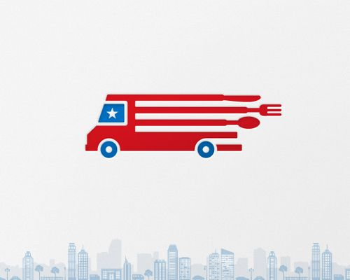 U.S. Food Trucks LogoFoodtruck, Food Truck